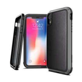 X-Doria Defense Lux Leder Hülle iPhone XR schwarz