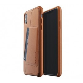 Mujjo Leather Wallet Case iPhone XS Max braun