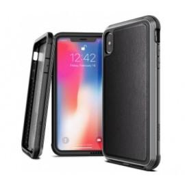 X-Doria Defense Lux Lederhülle iPhone XS Max schwarz