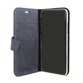 Valenta Booklet Classic Luxe Vintage Blau iPhone X / XS