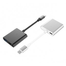 Hyper 3-in-1 USB-C-Adapter 4K HDMI dunkelgrau