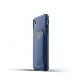 Mujjo Leder Wallet Case iPhone XR Blau