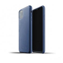 Mujjo Leder Hülle iPhone 11 Pro Max blau