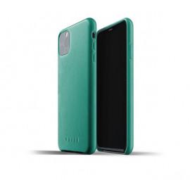 Mujjo Leder Hülle iPhone 11 Pro Max Grün