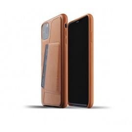 Mujjo Leder Wallet Hülle iPhone 11 Pro Max Braun