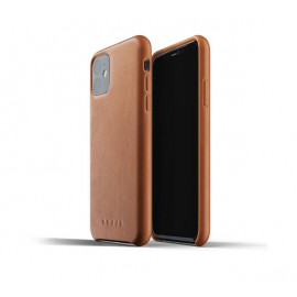 Mujjo Leather Case iPhone 11 Braun