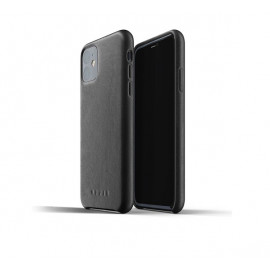 Mujjo Leather Case iPhone 11 Schwarz