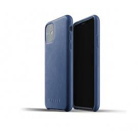Mujjo Leather Case iPhone 11 Blau