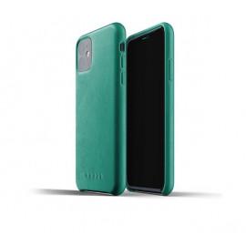 Mujjo Leather Case iPhone 11 Grün