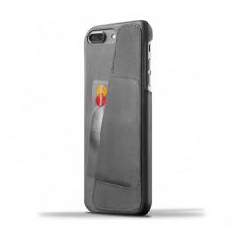 Mujjo Leather Wallet Case iPhone 7 / 8 Plus grau