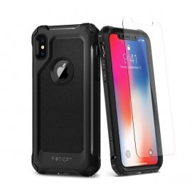 Spigen Pro Guard iPhone X Hülle schwarz