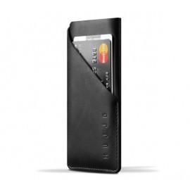 Mujjo Wallet Sleeve Slim Fit Leder iPhone 7 / 8 / SE 2020 schwarz
