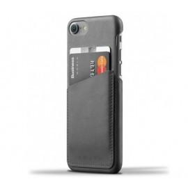 Mujjo wallet leren case/sleeve iPhone 6 zwart