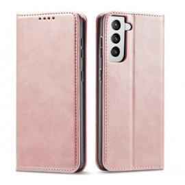 Casecentive Leder Wallet case Luxus Samsung Galaxy S21 Plus Róse Gold