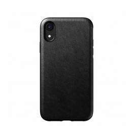 Nomad Rugged Lederhülle iPhone XR schwarz