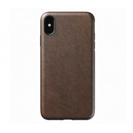 Nomad Rugged Lederhülle iPhone XS Max dunkelbraun