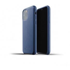 Mujjo Leather Case iPhone 11 Pro Blau