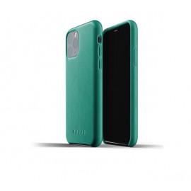 Mujjo Leather Case iPhone 11 Pro Grün