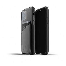 Mujjo Leather Wallet Case iPhone 11 Pro Schwarz