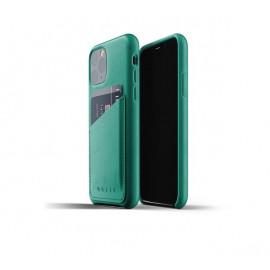Mujjo Leather Wallet Case iPhone 11 Pro grün