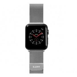 LAUT Apple Watch 42 / 44 mm Edelstahl Armband silber