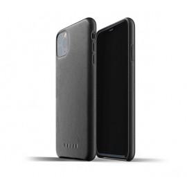 Mujjo Leder Hülle iPhone 11 Pro Max Schwarz