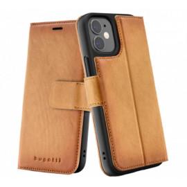 Bugatti Zurigo Wallet Case iPhone 12 Mini Braun