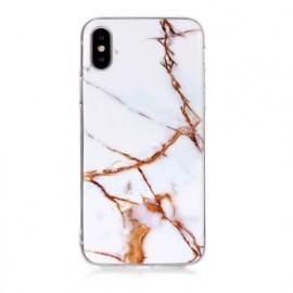 C&S Slim Hardcase Marmor iPhone X / XS weiß