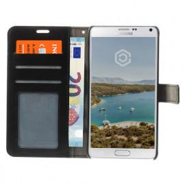 Casecentive Wallet Lederhülle Galaxy Note 4 schwarz