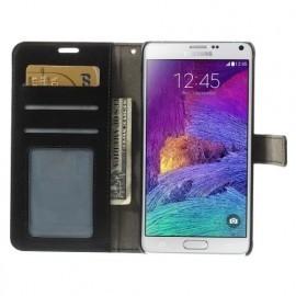 C&S Wallet Lederhülle Galaxy Note 4 schwarz