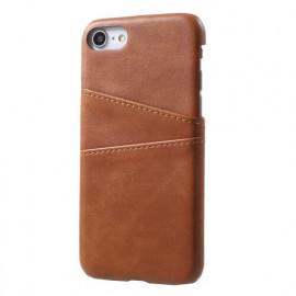 Casecentive Leder Wallet back case iPhone 7 / 8 / SE 2020 braun