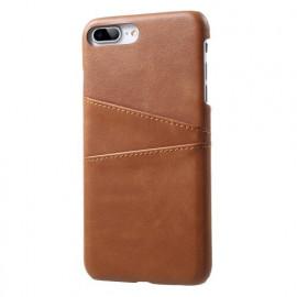 Casecentive Leder Wallet Back Case iPhone 7 / 8 Plus Braun