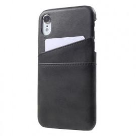 Casecentive Leder Wallet Back Case iPhone XR schwarz