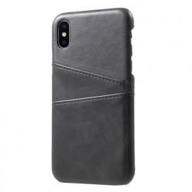 Casecentive Leder Wallet back case iPhone X / XS Schwarz