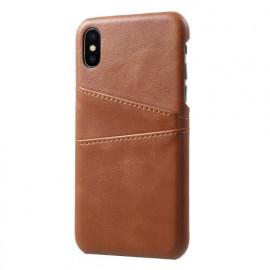 Casecentive Leder Wallet Back Case iPhone X / XS Braun