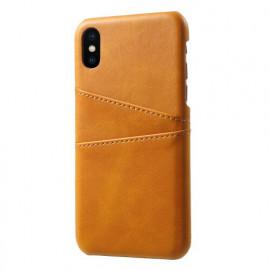 Casecentive Leder Wallet back case iPhone XS / X beige