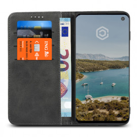 Casecentive Leder Wallet Case Samsung Galaxy S10 Schwarz