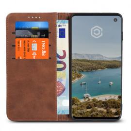 Casecentive Leder Wallet Case Samsung Galaxy S10 Braun
