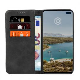 Casecentive PU Leder Wallet Case Galaxy S10 schwarz