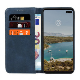 Casecentive Leder Wallet Case Samsung Galaxy S10 Blau