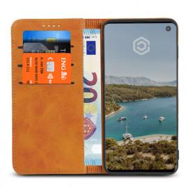 Casecentive Leder Wallet Case Samsung Galaxy S10 Beige