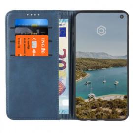 Casecentive Leder Wallet Case Samsung Galaxy S10e Blau