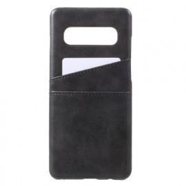 Casecentive Leder Wallet Backcase Galaxy S10 schwarz