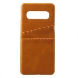 Casecentive Leder Wallet Backcase Galaxy S10 braun
