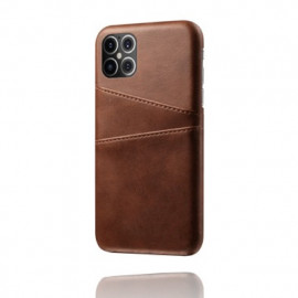 Casecentive Leather Wallet Back Case iPhone 12 Pro Max braun