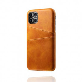 Casecentive Leather Wallet Back Case iPhone 12 Pro Max tan / braun