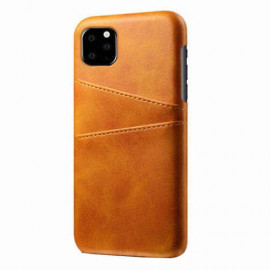 Casecentive Leder Wallet Backcase iPhone 11 beige