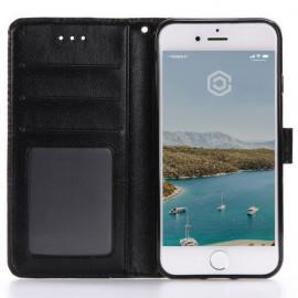 Casecentive Leder Wallet Case iPhone 7 / 8 / SE 2020 schwarz