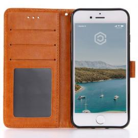 Casecentive Leder Wallet Case iPhone 7 / 8 / SE 2020 beige