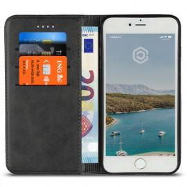 Casecentive PU Lederhülle iPhone 7 / 8 / SE 2020 schwarz
